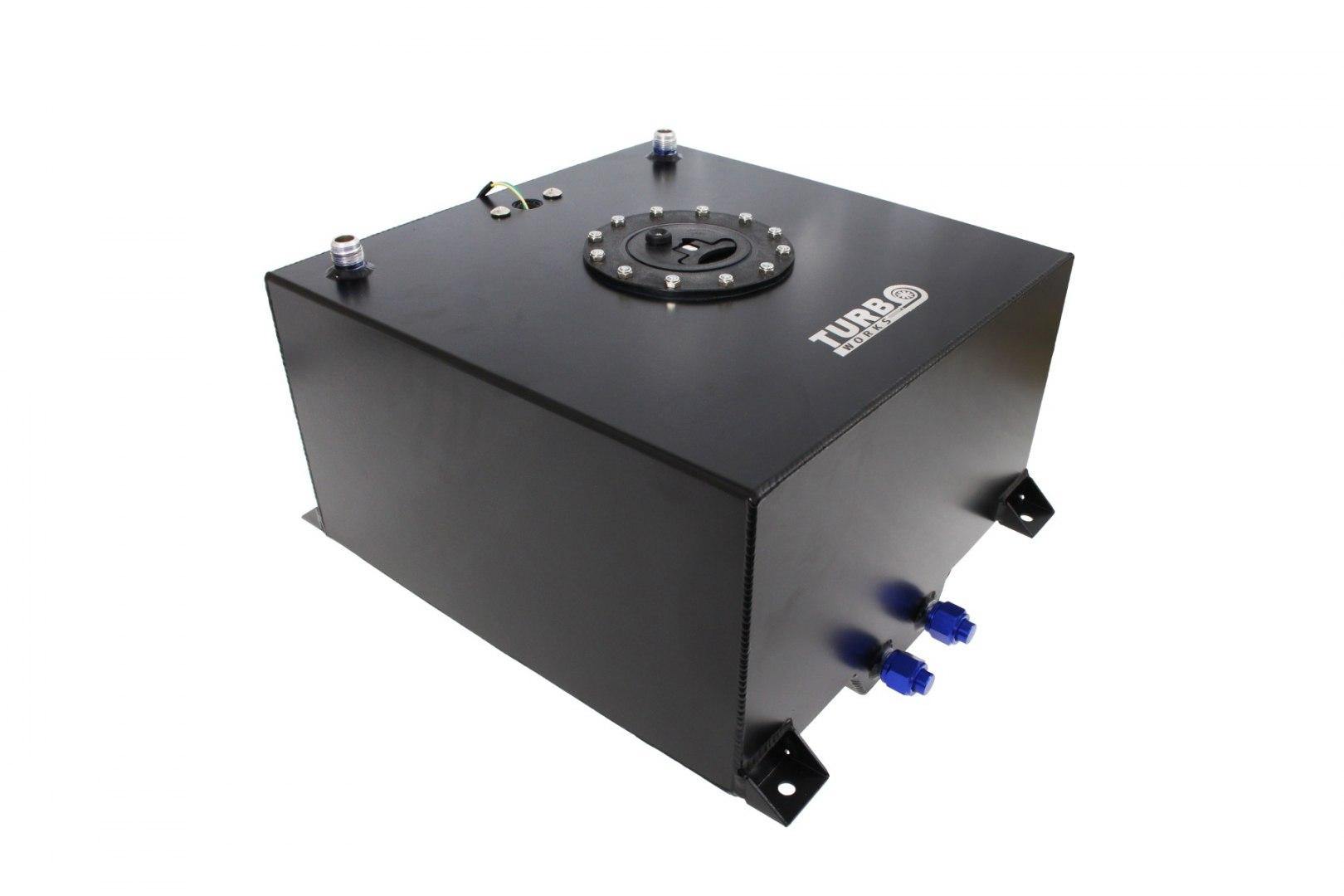 Zbiornik Paliwa TurboWorks 40L z czujnikiem Black - GRUBYGARAGE - Sklep Tuningowy